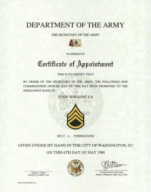 promotion certificate template - army promotion certificate template 28 images 18